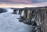 Iceland , Northeast Iceland , Selfoss Waterfall at Sunrise Photographic Print by Vincenzo Mazza