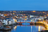 United Kingdom, England, North Yorkshire, Whitby. the Harbour at Dusk. Photographic Print by Nick Ledger