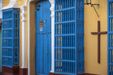 Cuba, Trinidad, Hostal in Historical Center Photographic Print by Jane Sweeney