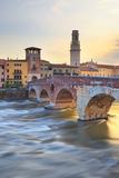 Italy, Italia Veneto, Verona. Ponte Pietra. Photographic Print by Francesco Iacobelli