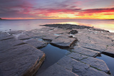 United Kingdom, Uk, Dorset, Sunset at Kimmeridge Bay Photographic Print by Fortunato Gatto