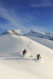 Skiing, Hohe Gaisl, Pragser Valley, Hochpustertal Valley, South Tyrol, Italy (Mr) Photographic Print by Norbert Eisele-Hein