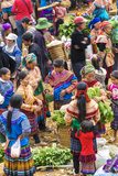 Flower Hmong Tribes People at Market, Nr Bac Ha, Nr Sapa, Vietnam Photographic Print by Peter Adams