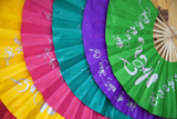 Colourful Fans, Hoi an (Unesco World Heritage Site), Quang Ham, Vietnam Photographic Print by Ian Trower