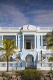 Cuba, Cienfuegos, the Malecon Linking the City Center to Punta Gorda, Blue Mansion Building Photographic Print by Jane Sweeney