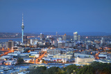 View of Auckland from Mount Eden at Dusk, Auckland, North Island, New Zealand Photographic Print by Ian Trower