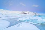 Iceland, Jokulsarlon, a Frozen Lagoon Near by Jokulsarlon Photographic Print by Fortunato Gatto