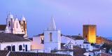 Portugal, Alentejo, Monsaraz, Overview at Dusk Photographic Print by Shaun Egan