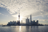 China, Shanghai. Pudong Business District Cityscape at Sunrise Photographic Print by Matteo Colombo
