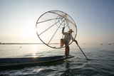 Myanmar, Shan State, Nyaungshwe Township. Local Intha Fishermen Fishing (Mr) Photographic Print by Matteo Colombo
