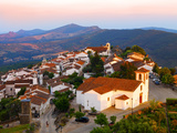 Portugal, Alentejo, Marvao, Medieval Village at Dusk Photographic Print by Shaun Egan