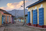 Cuba, Trinidad, Colourful Street in Historical Center Photographic Print by Jane Sweeney