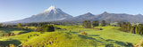Picturesque Mount Taranaki (Egmont) and Rural Landscape, Taranaki, North Island, New Zealand Photographic Print by Doug Pearson