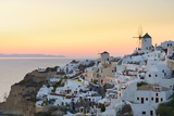 Sunset in Oia, Santorini, Cyclades, Greeced Photographic Print by Katja Kreder