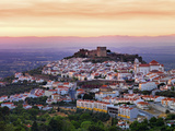 Portugal, Alentejo, Castelo De Vide, Overview at Dusk Photographic Print by Shaun Egan