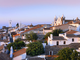 Portugal, Alentejo, Monsaraz, Overview at Dusk Photographic Print by Shaun Egan