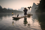 China, Guanxi, Yangshuo. Old Chinese Fisherman Photographic Print by Matteo Colombo