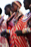 Male Maasai Dancers, Amboseli National Park, Kenya Photographic Print by Paul Joynson Hicks