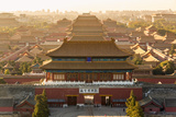 Aerial View of the Forbidden City, Beijing, China Photographic Print by Peter Adams