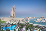 Burj Al Arab, from the Jumeirah Beach Hotel, Dubai, Uae Photographic Print by Jon Arnold