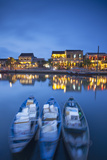 Boats on Thu Bon River at Dusk, Hoi an (Unesco World Heritage Site), Quang Ham, Vietnam Photographic Print by Ian Trower