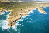 Great Ocean Road, Port Campbell National Park, Victoria, Australia. Aerial View of Shipwreck Coast Photographic Print by Matteo Colombo