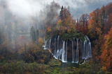 Croatia, the Incredible Autumn Colours and Waterfalls of Plitvice National Park. Photographic Print by Andrea Pozzi