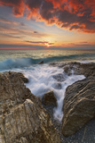 Italy, Calabria , Sunset at Leucopetra Cliff Photographic Print by Alfonso Morabito