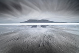 United Kingdom, Uk, Scotland, Highlands, Eigg Island, a Storm Approaching on Laig Bay Photographic Print by Fortunato Gatto