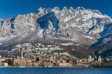 Winter View of City of Lecco with Mount Resegone in the Background, Lake Como, Lombardy, Italy Photographic Print by Stefano Politi Markovina