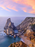 Portugal, Estramadura, Ursa , Seascape at Dusk Photographic Print by Shaun Egan