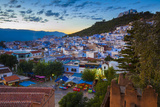 View over Chefchaouen, Morocco, North Africa Photographic Print by Neil Farrin