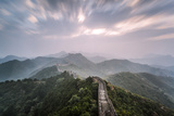 Hebei, China. the Great Wall of China, Jinshanling Section, at Sunrise, Long Exposure Photographic Print by Matteo Colombo