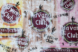 Cuba, Trinidad, Havana Club Painted on Wall of Bar in Historical Center Fotografiskt tryck av Jane Sweeney