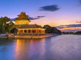 China, Beijing, Forbidden City, Palace Moat Lámina fotográfica por Alan Copson