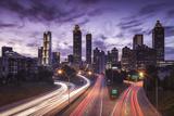 USA, Georgia, Atlanta, City Skyline from Interstate 20 Photographic Print by Walter Bibikow