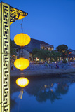 Hoi an at Dusk, Hoi an (Unesco World Heritage Site), Quang Ham, Vietnam Photographic Print by Ian Trower