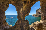 Rock Cave, Algar Seco, Carvoeiro, Algarve, Portugal Photographic Print by Sabine Lubenow