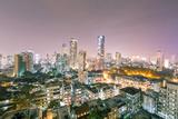 India, Maharashtra, Mumbai, View of the City of Mumbai City Centre at Night from Kemp's Corner Photographic Print by Alex Robinson