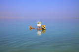 Floating in the Dead Sea (Lowest Place on Earth), Ein Bokek, Israel, Middle East (Mr) Photographic Print by Neil Farrin
