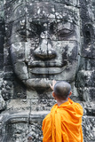 Cambodia, Siem Reap, Angkor Wat Complex. Monks Inside Bayon Temple (Mr) Photographic Print by Matteo Colombo