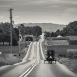 USA, Pennsylvania, Pennsylvania Dutch Country, Paradise, Amish Horse and Buggy on Paradise Lane Photographic Print by Walter Bibikow