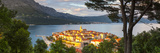 Elevated View over Picturesque Korcula Town Illuminated at Sunset, Korcula, Dalmatia, Croatia Photographic Print by Doug Pearson