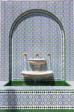 Oman, Muscat. Ornate Fountain, Asma Bint Alawi Mosque Photographic Print by Matteo Colombo