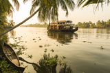 Traditional House Boat, Kerala Backwaters, Nr Alleppey, (Or Alappuzha), Kerala, India Photographic Print by Peter Adams
