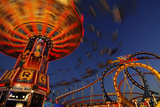 Chairoplane, Oktoberfest, Munich, Bavaria, Germany Photographic Print by Norbert Eisele-Hein
