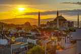 Turkey, Istanbul, Sultanahmet, Sunrise over Hagia Sophia (Or Ayasofya) Photographic Print by Alan Copson