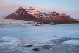 Iceland, Austurland , First Lights of Dawn in a Glacier Lagoon Photographic Print by Salvo Orlando