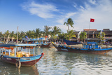 Boats on Thu Bon River, Hoi an (Unesco World Heritage Site), Quang Ham, Vietnam Photographic Print by Ian Trower