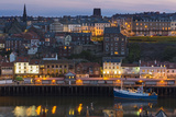 United Kingdom, England, North Yorkshire, Whitby. a View of the Harbour at Dusk. Photographic Print by Nick Ledger